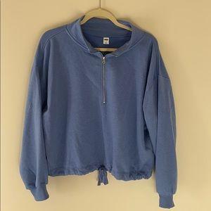 Old navy blue quarter zip
